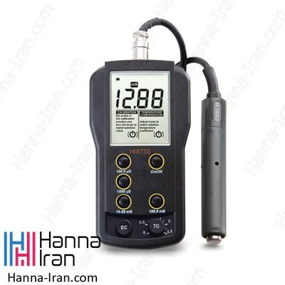 EC متر پرتابل مولتی رنج HI8733