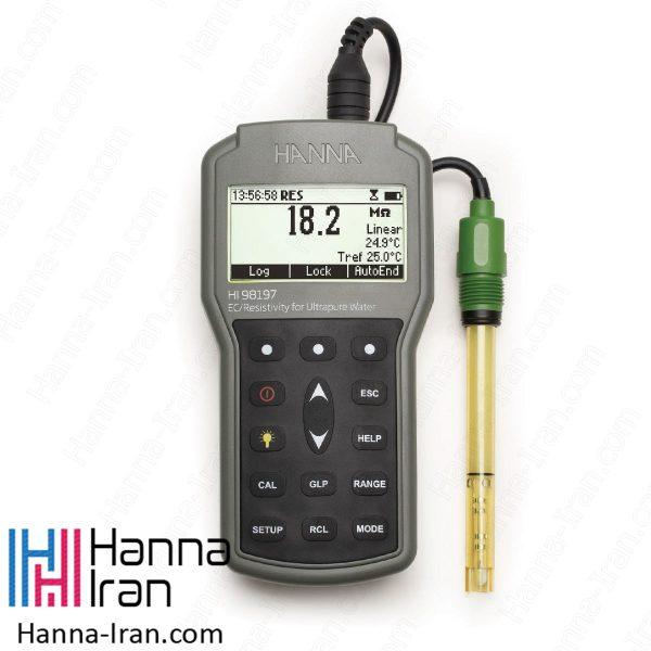 EC/TDS/Salinity/Resistivity متر پرتابل HI98197
