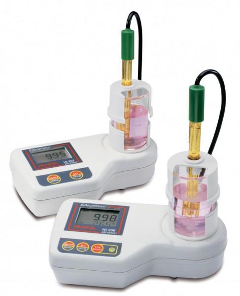مشخصات و خرید pH متر رومیزی مدل HI207 آموزشی