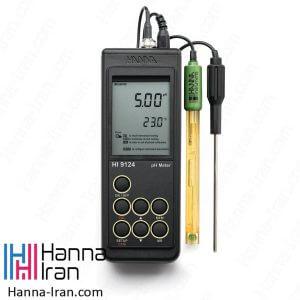 سفارش و خرید PH متر HI9124 از نمایندگی انحصاری و رسمی هانا در ایران