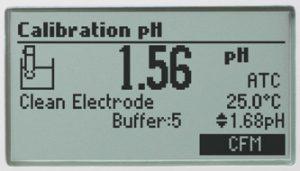نمایش اطلاعات کالیبره شدن دستگاه HI98162