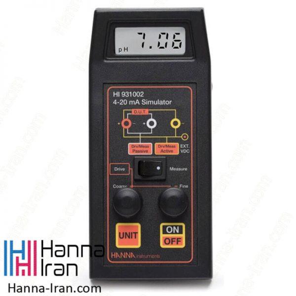 آمپرمتر کالیبراتور و سیمولاتور مدل HI931002 کمپانی هانا