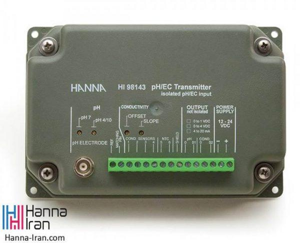 ترنسمیتر pH و EC مدل HI98143