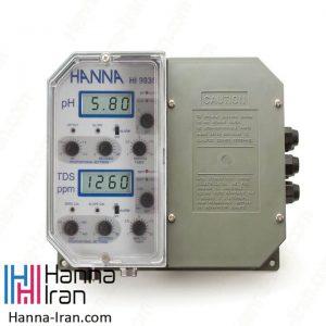 کنترلر صنعتی و دیجیتال pH و TDS مدل HI9935 هانا